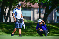Fabian Gomez (ARG) lines up his putt on 14 during the round 1 of the Dean &amp; Deluca Invitational, at The Colonial, Ft. Worth, Texas, USA. 5/25/2017.<br /> Picture: Golffile | Ken Murray<br /> <br /> <br /> All photo usage must carry mandatory copyright credit (&copy; Golffile | Ken Murray)