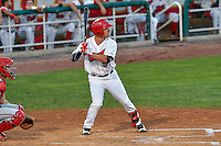 Zach Gibbons (37) of the Orem Owlz at bat against the Billings Mustangs in Game 2 of the Pioneer League Championship at Home of the Owlz on September 16, 2016 in Orem, Utah. Orem defeated Billings 3-2 and are the 2016 Pioneer League Champions.(Stephen Smith/Four Seam Images)
