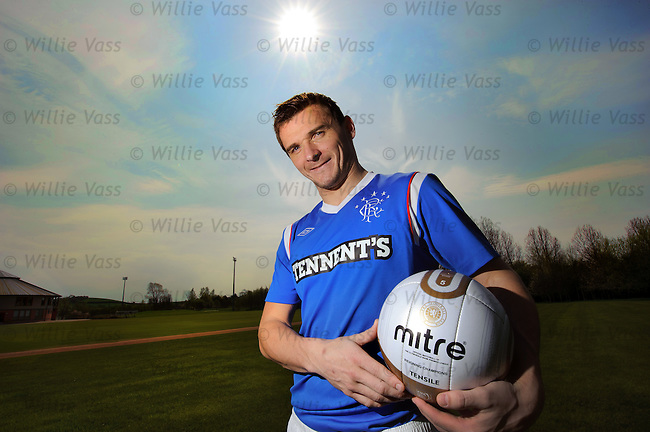 Lee McCulloch with the new Rangers home kit
