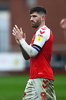 Fleetwood Town's Ched Evans applauds the fans<br /> <br /> Photographer Richard Martin-Roberts/CameraSport<br /> <br /> The EFL Sky Bet League One - Fleetwood Town v Plymouth Argyle - Saturday 16th March 2019 - Highbury Stadium - Fleetwood<br /> <br /> World Copyright © 2019 CameraSport. All rights reserved. 43 Linden Ave. Countesthorpe. Leicester. England. LE8 5PG - Tel: +44 (0) 116 277 4147 - admin@camerasport.com - www.camerasport.com