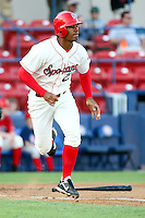 July 20th 2008:  Tim Rodriguez of the Spokane Indians, Rookie Class-A affiliate of the Texas Rangers, during a game at Home of the Avista Stadium in Spokane, WA.  Photo by:  Matthew Sauk/Four Seam Images