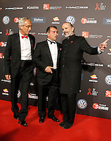 Dr. Bonaventura Clotet, Director of Fundacion Lucha Contra el SIDA; Joan Laporta, FC Barcelona ex president and actor Miguel Bose during Barcelona 5th AIDS Ceremony. November 24,2014.(ALTERPHOTOS/Acero) /NortePhoto<br />