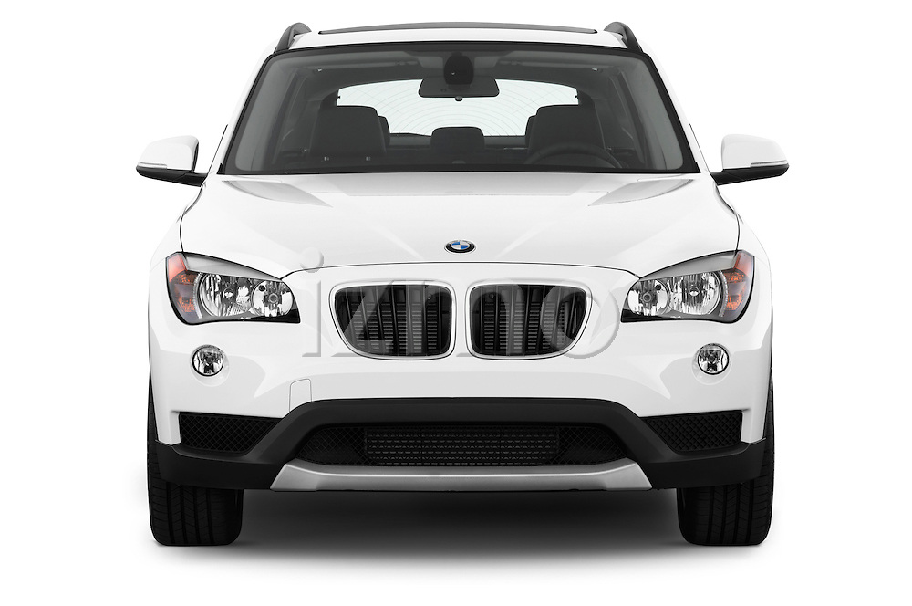 Straight front view of a 2013 BMW X1 sDrive28i