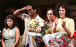 Daphne Rubin-Vega, Blair Underwood, Director Emily Mann, Nicole Ari Parker.during the Broadway Opening Night Curtain Call for 'A Streetcar Named Desire' on 4/22/2012 at the Broadhurst Theatre in New York City.