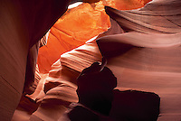Slot canyon in red rock country, Antelope Canyon, Arizona