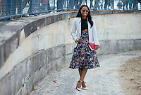 Shiona Turini at Paris Fashion Week (Photo by Hunter Abrams/Guest of a Guest)