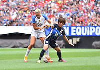 Cleveland, Ohio - June 5, 2016: The USWNT go up 1-0 over Japan in first half action during in an international friendly at FirstEnergy Stadium.