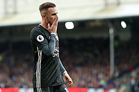 3rd November 2019; Selhurst Park, London, England; English Premier League Football, Crystal Palace versus Leicester City; James Maddison of Leicester City reacts to a missed chance on goal - Strictly Editorial Use Only. No use with unauthorized audio, video, data, fixture lists, club/league logos or 'live' services. Online in-match use limited to 120 images, no video emulation. No use in betting, games or single club/league/player publications