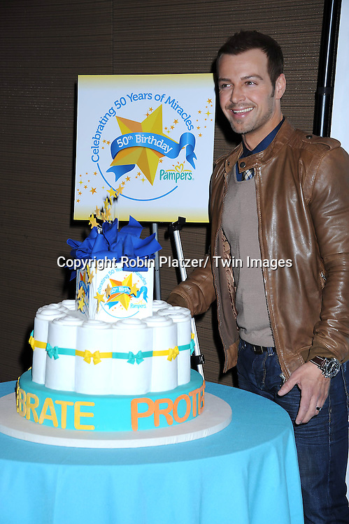 Joey Lawrence attending The Pampers Event at Mount Sinai Hospital on April 12, 2011 to kick off Little Miracle Missions, a program that supports and protects babies and their families.