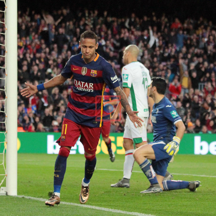 League BBVA 2015/2016. Game: 19.<br /> FC Barcelona vs Granada CF: 4-0.<br /> Neymar.