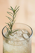 Pittsboro, North Carolina - Friday March 18, 2016 - A rosemary spritzer made using Fair Game Beverage Company's Scuppernong wine.