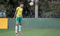SÃO PAULO,SP,14.07.2016 - FUTEBOL-PALMEIRAS - Rafael Marques durante treino na Academia de Futebol na Barra Funda,zona oeste de São Paulo, na tarde desta quinta-feira (14). ( Foto : Marcio Ribeiro / Brazil Photo Prass)