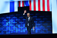 Washington, DC - March 25, 2019: U.S. Senator Chuck Schumer, Senate Democratic Leader, greets the audience as he enters the stage to address the 2019 AIPAC Policy Conference at the Washington Convention Center, March 25, 2019.  (Photo by Don Baxter/Media Images International)