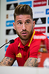 Sergio Ramos during press conference in the city of football of Las Rozas in Madrid, Spain September 01, 2017. (ALTERPHOTOS/Borja B.Hojas)