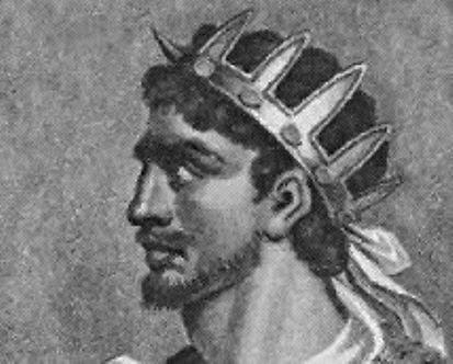 Retrato de Atila, Rey de los Hunos,<br /> cuyo esp&iacute;ritu ronda por la Ciudad<br /> Colonial, cada fin de a&ntilde;o con el Colonial Fest.<br /> El retrato es de Frescard Malton, siglo 19.
