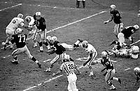 Raiders vs Houston Oilers interception return...(1964-65) photo/Ron Riesterer)