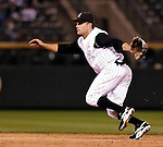 8 September 2006: Jamey Carroll, second baseman for the Colorado Rockies, in action against the Washington Nationals. The Rockies defeated the Nationals 11-8 at Coors Field in Denver, Colorado...Mandatory Photo Credit: Ed Wolfstein.