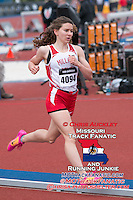 Millard South (Ne) senior Katie Spencer runs to a runner-up finish in the 3200-meters in 10:35.39 at the 2015 Kansas Relays.