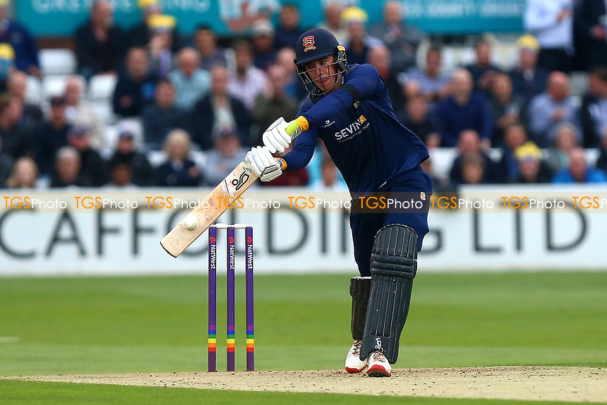 Daniel Lawrence hits four runs for  during Essex Eagles vs Middlesex, NatWest T20 Blast Cricket at The Cloudfm County Ground on 11th August 2017