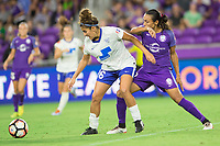 Orlando, FL - Saturday September 02, 2017: Angela Salem, Marta Vieira Da Silva during a regular season National Women's Soccer League (NWSL) match between the Orlando Pride and the Boston Breakers at Orlando City Stadium.