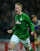 FUSSBALL   1. BUNDESLIGA    SAISON 2012/2013    12. Spieltag   SV Werder Bremen - Fortuna Duesseldorf               18.11.2012 Kevin De Bruyne (SV Werder Bremen) bejubelt seinen Treffer zum 2:1