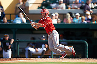 Florida Southern Moccasins pinch hitter Zach Richardson (46) at bat during an exhibition game against the Detroit Tigers on February 29, 2016 at Joker Marchant Stadium in Lakeland, Florida.  Detroit defeated Florida Southern 7-2.  (Mike Janes/Four Seam Images)
