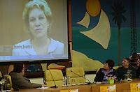 SAO PAULO, 06 DE JUNHO DE 2012 - SOLENIDADE 16 MES ORGULHO LGBT - Senadora Marta Suplicy em participacao por video na solenidade do 16 mes do orgulho LGBT, na Camara Municipal de Sao Paulo, regiao central, na noite desta quarta feira.  FOTO: ALEXANDRE MOREIRA - FOTO: ALEXANDRE MOREIRA - BRAZIL PHOTO PRESS