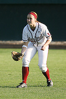 25 October 2007: Stanford Cardinal Alissa Haber during Stanford's 5-4 loss in seven innings against the San Jose State Spartans at Boyd & Jill Smith Family Stadium in Stanford, CA.