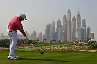Stephen Gallacher (SCO) on the 8th during Round 2 of the Omega Dubai Desert Classic, Emirates Golf Club, Dubai,  United Arab Emirates. 25/01/2019<br /> Picture: Golffile | Thos Caffrey<br /> <br /> <br /> All photo usage must carry mandatory copyright credit (© Golffile | Thos Caffrey)