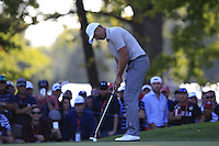 Henrik Stenson (Team Europe) on the 12th green during Saturday afternoon Fourball at the Ryder Cup, Hazeltine National Golf Club, Chaska, Minnesota, USA.  01/10/2016<br /> Picture: Golffile | Fran Caffrey<br /> <br /> <br /> All photo usage must carry mandatory copyright credit (&copy; Golffile | Fran Caffrey)