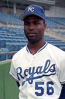 Kansas City Royals Brian McRae (56) during spring training circa 1991at Baseball City Stadium in Davenport, Florida.  (MJA/Four Seam Images)