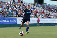 Cary, North Carolina  - Saturday June 03, 2017: Ashley Hatch during a regular season National Women's Soccer League (NWSL) match between the North Carolina Courage and the FC Kansas City at Sahlen's Stadium at WakeMed Soccer Park. The Courage won the game 2-0.