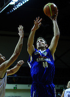 Nick Horvath lays a shot up for the Saints during the NBL match between the Wellington Saints and Nelson Giants at TSB Bank Arena, Wellington, New Zealand on Friday, 21 May 2010. Photo: Dave Lintott / lintottphoto.co.nz