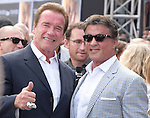 Arnold Schwarzenegger and Sylvester Stallone attends The Paramount Pictures L.A. Premiere of Terminator Genisys held at The DolbyTheatre  in Hollywood, California on June 28,2015                                                                               © 2015 Hollywood Press Agency