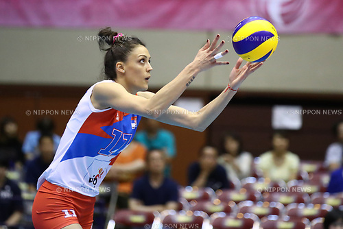 Stefana Veljkovic (SRB), <br /> JULY 16, 2017 - Volleyball : FIVB Volleyball World Grand Prix SENDAI 2017 match between <br /> Serbia 3-1 Thailand <br /> at Kamei Arena Sendai, in Sendai, Japan. <br /> (Photo by Sho Tamura/AFLO)