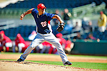 4 March 2010: Washington Nationals' pitcher Joel Peralta on the mound during the Nationals-Astros Grapefruit League Opening game at Osceola County Stadium in Kissimmee, Florida. The Houston Astros defeated the Nationals split-squad 15-5 in Spring Training action. Mandatory Credit: Ed Wolfstein Photo