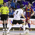 EL FC Barcelona Alusport es clasifica per la final de la Copa del Rei despres de guanyar el partit de tornada de la semifinal 6-1 contra el Azkar Lugo. A la foto Wilde