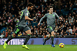 Real Madrid's Mikel Oyarzabal and Real Sociedad's Dani Carvajal during La Liga match between Real Madrid and Real Sociedad at Santiago Bernabeu Stadium in Madrid, Spain. January 06, 2019. (ALTERPHOTOS/A. Perez Meca)<br />  (ALTERPHOTOS/A. Perez Meca)