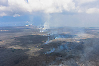 A view of Pu'u O'o Vent, Hawai'i Volcanoes National Park, Big Island.