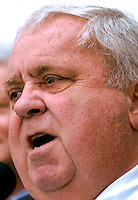 TALLAHASSEE, FL. 3/27/03- Senate President Jim King, R-Jacksonville speaks during a rally organized by the Florida Medical Association to urge the legislature to do something about the medical malpractice insurance crisis Thursday at the Capitol in Tallahassee. King, whose chamber has not passed a bill to the FMA's liking was roundly booed during his speech. COLIN HACKLEY PHOTO