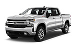 2019 Chevrolet Silverado-1500 RST 4 Door Pick-up Angular Front automotive stock photos of front three quarter view