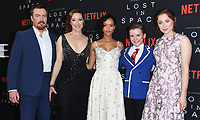 09 April 2018 - Hollywood, California - Toby Stephens, Molly Parker, Taylor Russell, Maxwell Jenkins, Mina Sundwall. NETFLIX's &quot;Lost in Space&quot; Season 1 Premiere Event held at Arclight Hollywood Cinerama Dome. <br /> CAP/ADM/BT<br /> &copy;BT/ADM/Capital Pictures
