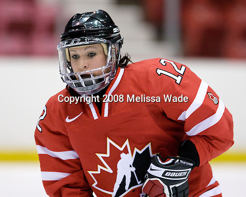 Meaghan Mikkelson (Canada - 12) - Team USA defeated Team Canada 4-3 (so) to win the 2008 Four Nations Cup on Sunday, November 9, 2008, in the 1980 Rink in Lake Placid, New York.