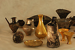 Gold and metal vessels, artifact, Oxus Civilization; Turkmenistan; Archaeology; Victor Sarianidi; Gonor Depe site; BMAC complex