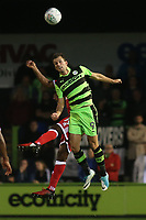 Christian Doldge of Forest Green Rovers heads the ball upfield during Forest Green Rovers vs MK Dons, Caraboa Cup Football at The New Lawn on 8th August 2017