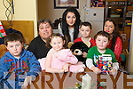 The Ross Family whos house burned down before Christmas from left: Alan, Ruby, Jade, Conor, Aaron, Carol and Ryan