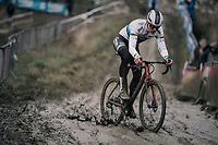 Mathieu van der Poel (NED/Corendon-Circus) appearing in public on his new bike for the very first time during recon<br /> <br /> Elite Men recon<br /> GP Sven Nys / Belgium 2018