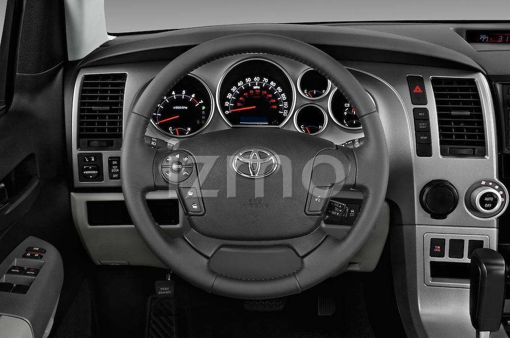 Car pictures of steering wheel view of a 2017 Toyota Sequoia SR5 5 Door SUV Steering Wheel