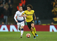Axel Witsel of Borussia Dortmund<br /> <br /> Photographer Rob Newell/CameraSport<br /> <br /> UEFA Champions League Round of 16 First Leg - Tottenham Hotspur v Borussia Dortmund - Wednesday 13th February 2019 - Wembley Stadium - London<br />  <br /> World Copyright © 2018 CameraSport. All rights reserved. 43 Linden Ave. Countesthorpe. Leicester. England. LE8 5PG - Tel: +44 (0) 116 277 4147 - admin@camerasport.com - www.camerasport.com