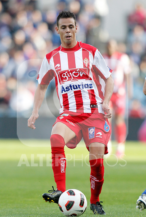 Sporting de Gijon's Carmelo Gonzalez during La Liga match. October 24, 2010. (ALTERPHOTOS/Alvaro Hernandez)